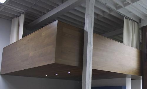 mezzanine en bois et béton