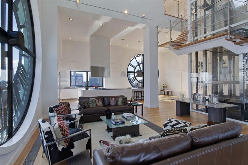 Clock tower loft en triplex new york for Interieur loft new york
