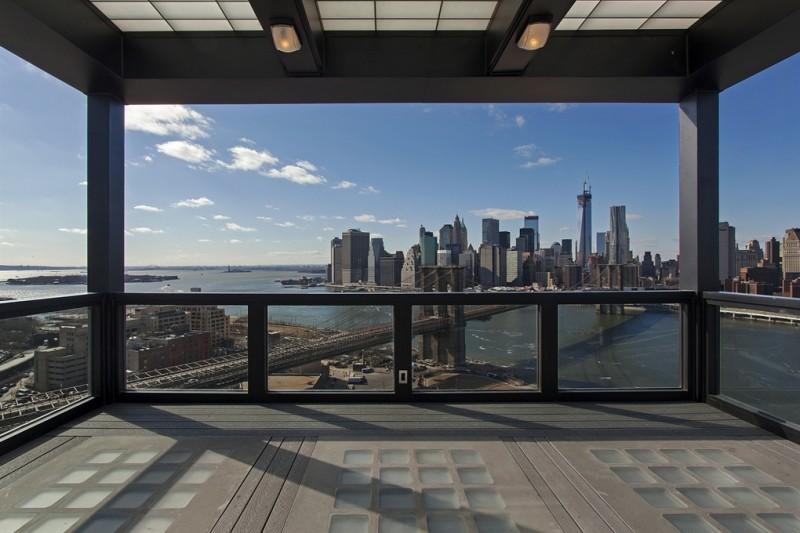 Terrasse avec vue sur New York