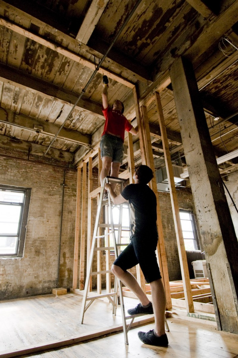L'impressionnante hauteur sous plafond