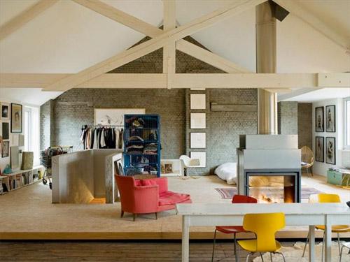 temporary loft am nagement temporaire d 39 un loft. Black Bedroom Furniture Sets. Home Design Ideas