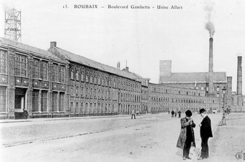 Carte postale ancienne d'usine à Roubaix