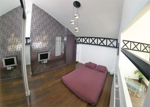photo de la chambre du loft