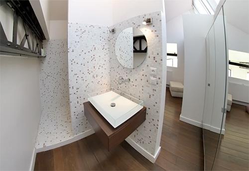 chambre à déco moderne dans un loft