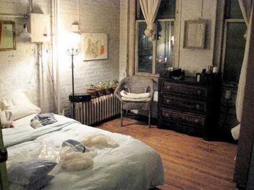 Chambre bleu canard et taupe Chambre loft new yorkais