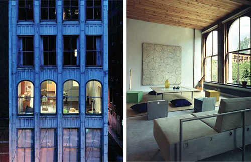 loft in Manhattan dans un ancien batiment industriel