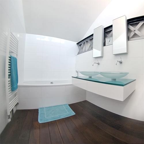 Loft de standing dans une ancienne usine roubaix - Hauteur plan de travail salle de bain ...