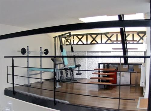 salle de sport dans un loft