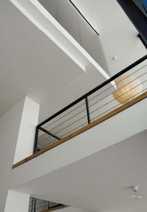 mezzanine architecte avec garde corps métal