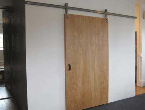 Idées De Portes Coulissantes Déco - Porte placard coulissante avec porte intérieure pleine
