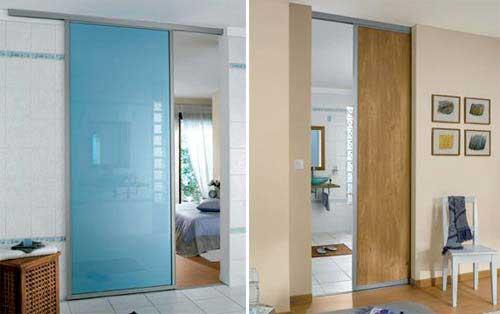 33 id es de portes coulissantes d co - Porte coulissante encastrable dans cloison ...