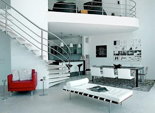 mezzanine courbe design - Maison Moderne Avecmezzanine