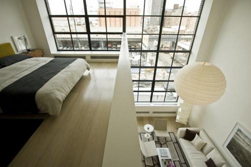 mezzanine dans un loft new york. Black Bedroom Furniture Sets. Home Design Ideas