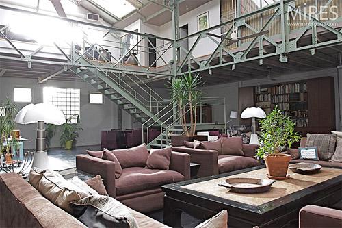 24 id es de mezzanines pour votre loft - Loft industriel muratore construction design ...