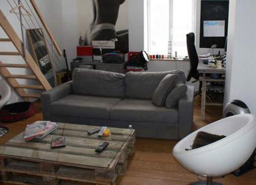 7 id es d co de mobilier avec des palettes for Idee table basse recup