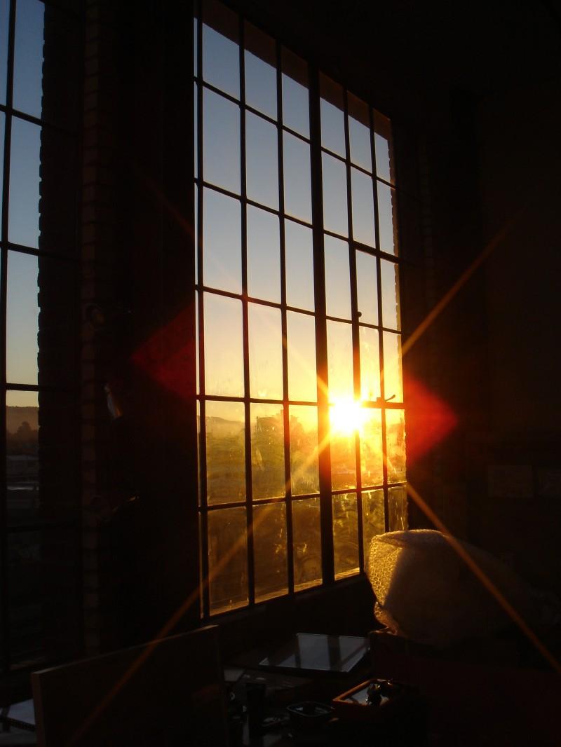 Grande baie vitree du loft