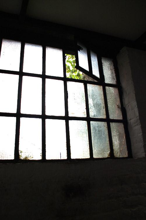 vieille fenêtre d'usine