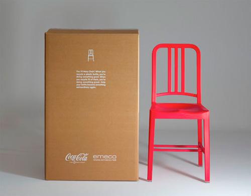 Chaise en plastique recyclé