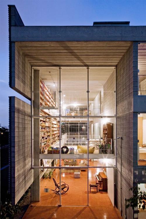 Maison contemporaine esprit loft s o paulo for Maison loft design