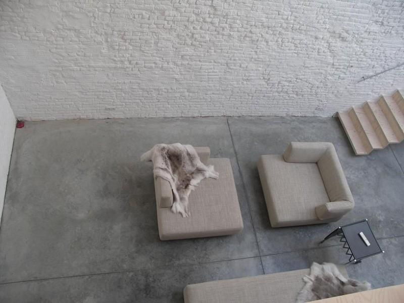 Béton quartzé dans un loft