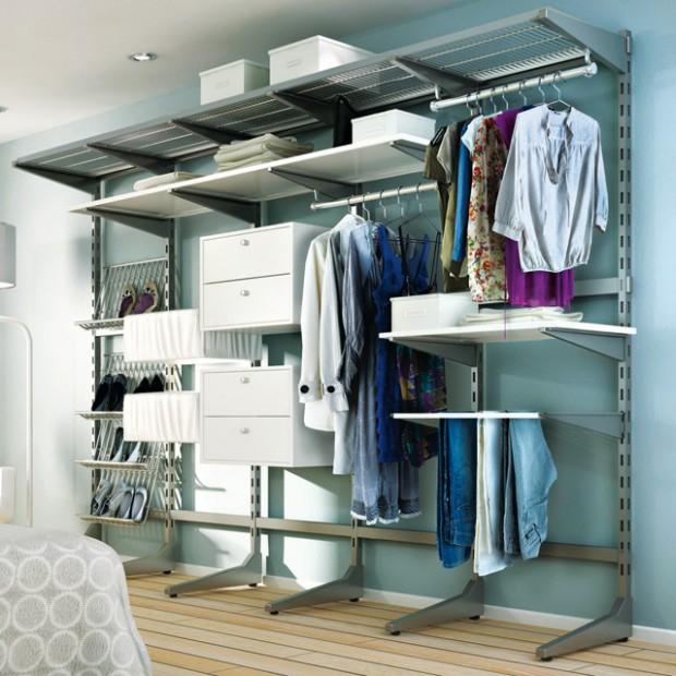 24 id es de dressing pour votre loft - Rangement chaussures castorama ...