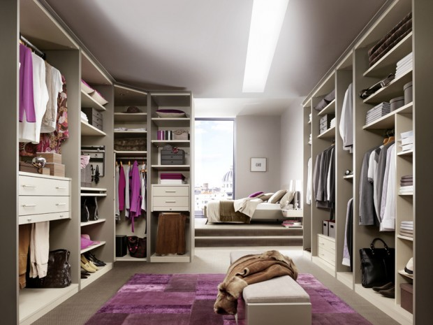 24 id es de dressing pour votre loft for Photos de dressing