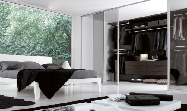 24 id es de dressing pour votre loft. Black Bedroom Furniture Sets. Home Design Ideas
