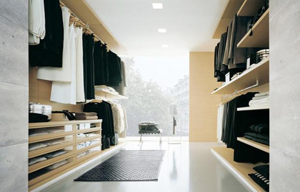 24 id es de dressing pour votre loft - Dressing ouvert ...