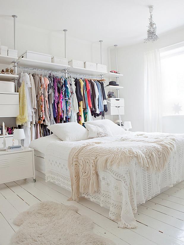 dressing esprit scandinave - Idee Rangement Chambre Ikea