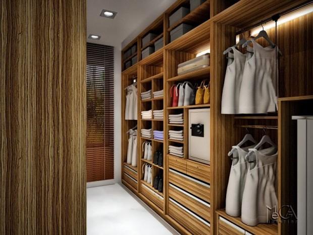 24 id es de dressing pour votre loft. Black Bedroom Furniture Sets. Home Design Ideas