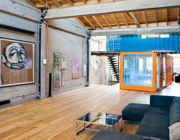 Deux containers dans un loft san francisco for Amenager un container