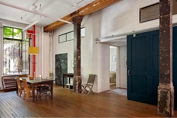 Un loft rustique et boh me new york for Loft a vendre new york