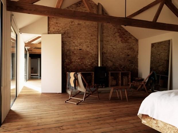 D co brique et plancher dans un loft - Briquette decoration interieur ...
