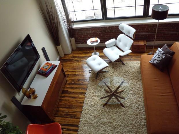 12 id es d co de murs en brique pour votre loft for Peinture salon rouge brique