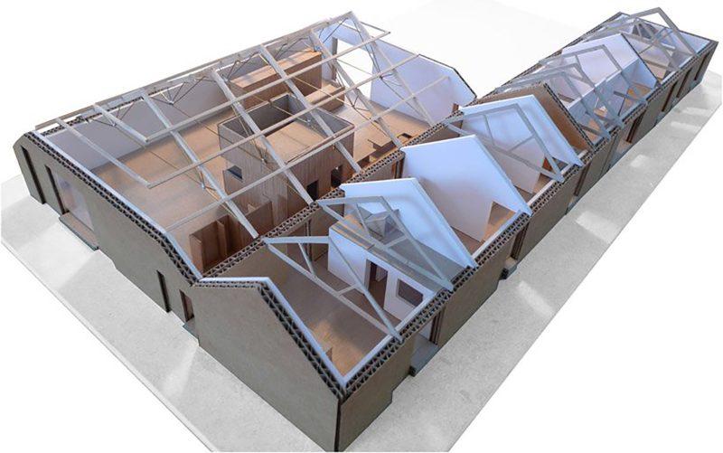 Maquette en carton du loft