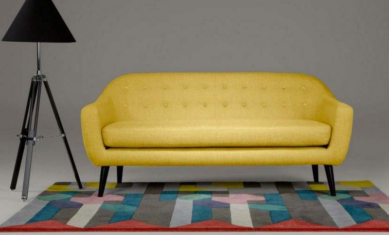 Canapé années 50 jaune