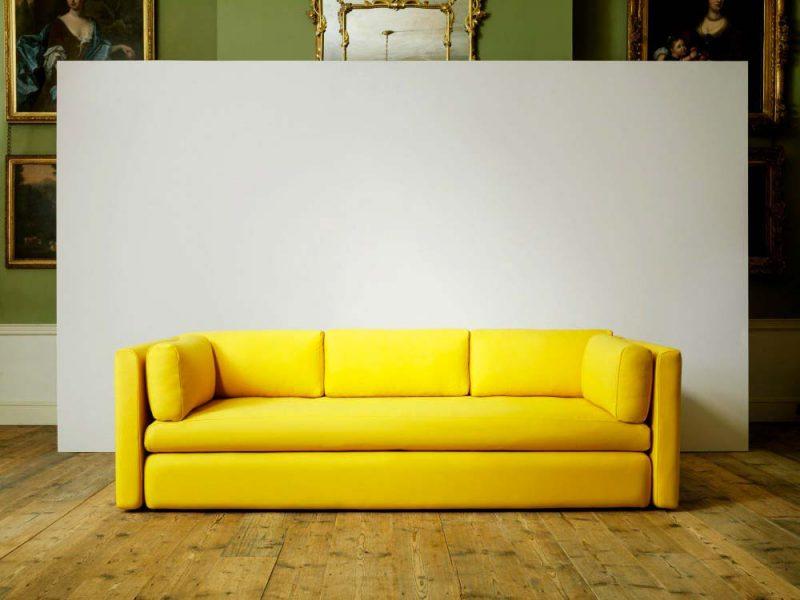 Canapé jaune HAY