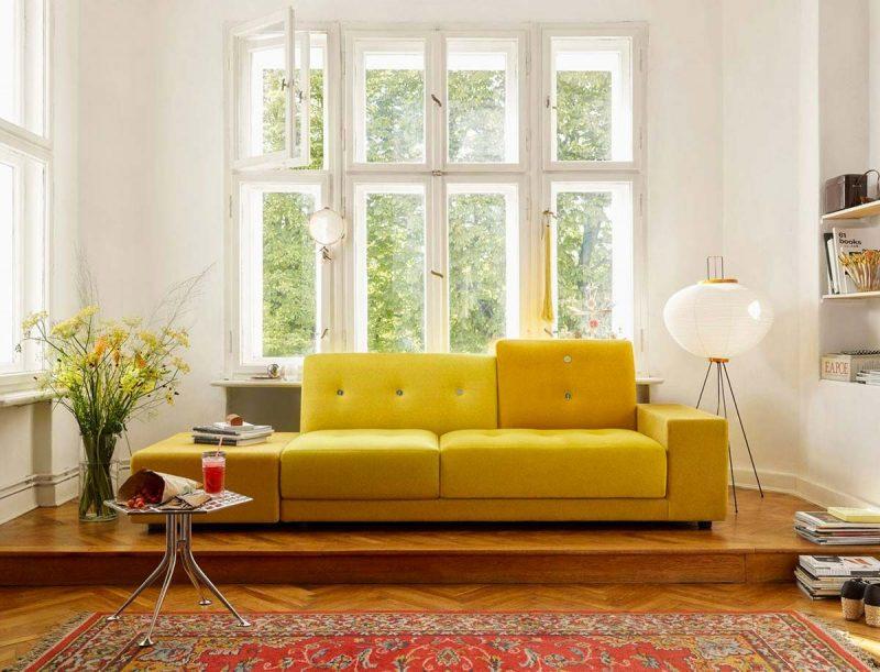 Canapé jaune Vitra Polder