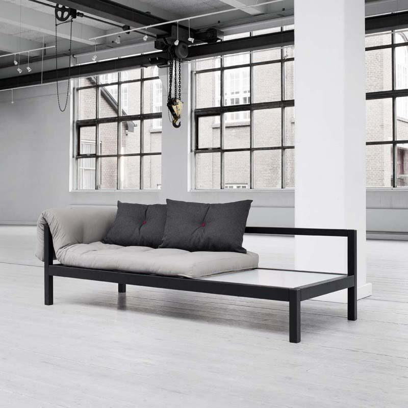 Canapé lit design en pin