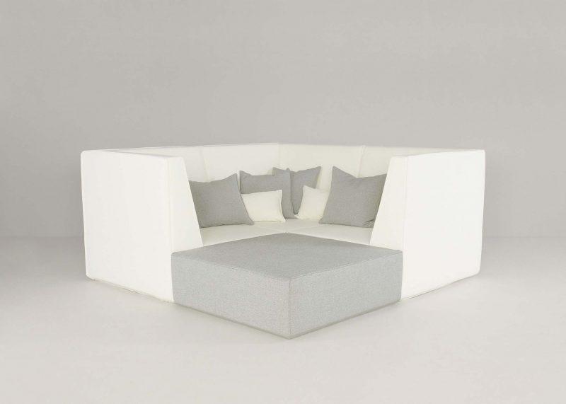 Canape en ilot modulable Cubit gris