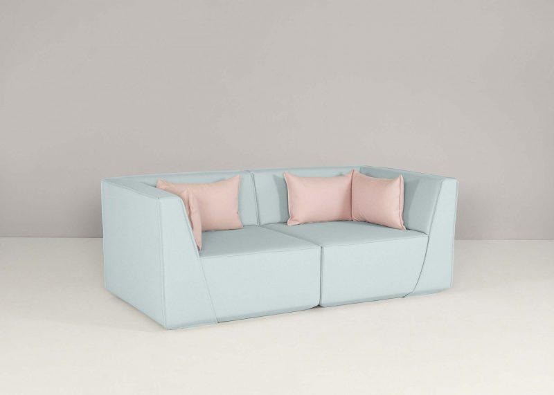Canapé personnalisable turquoise
