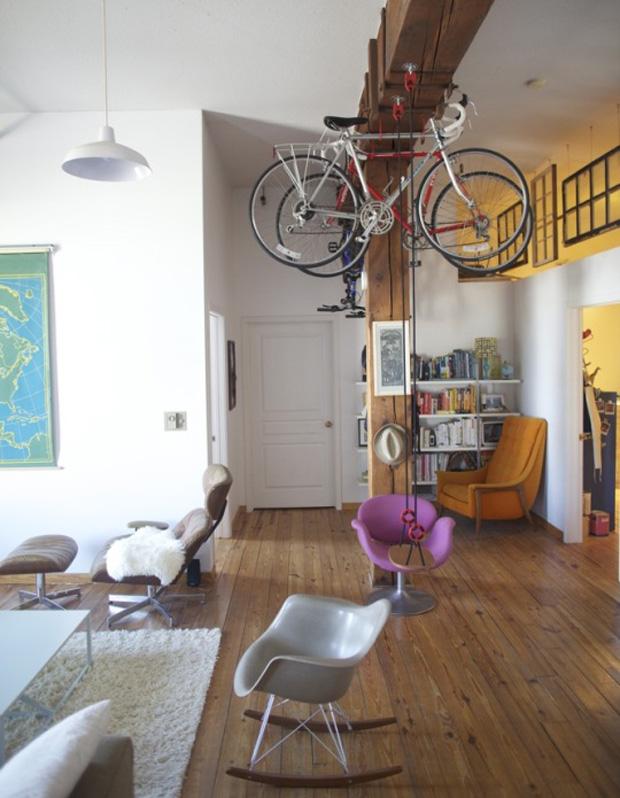 Vélo en déco dans un loft