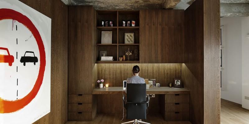 Bureau sur mesure en bois