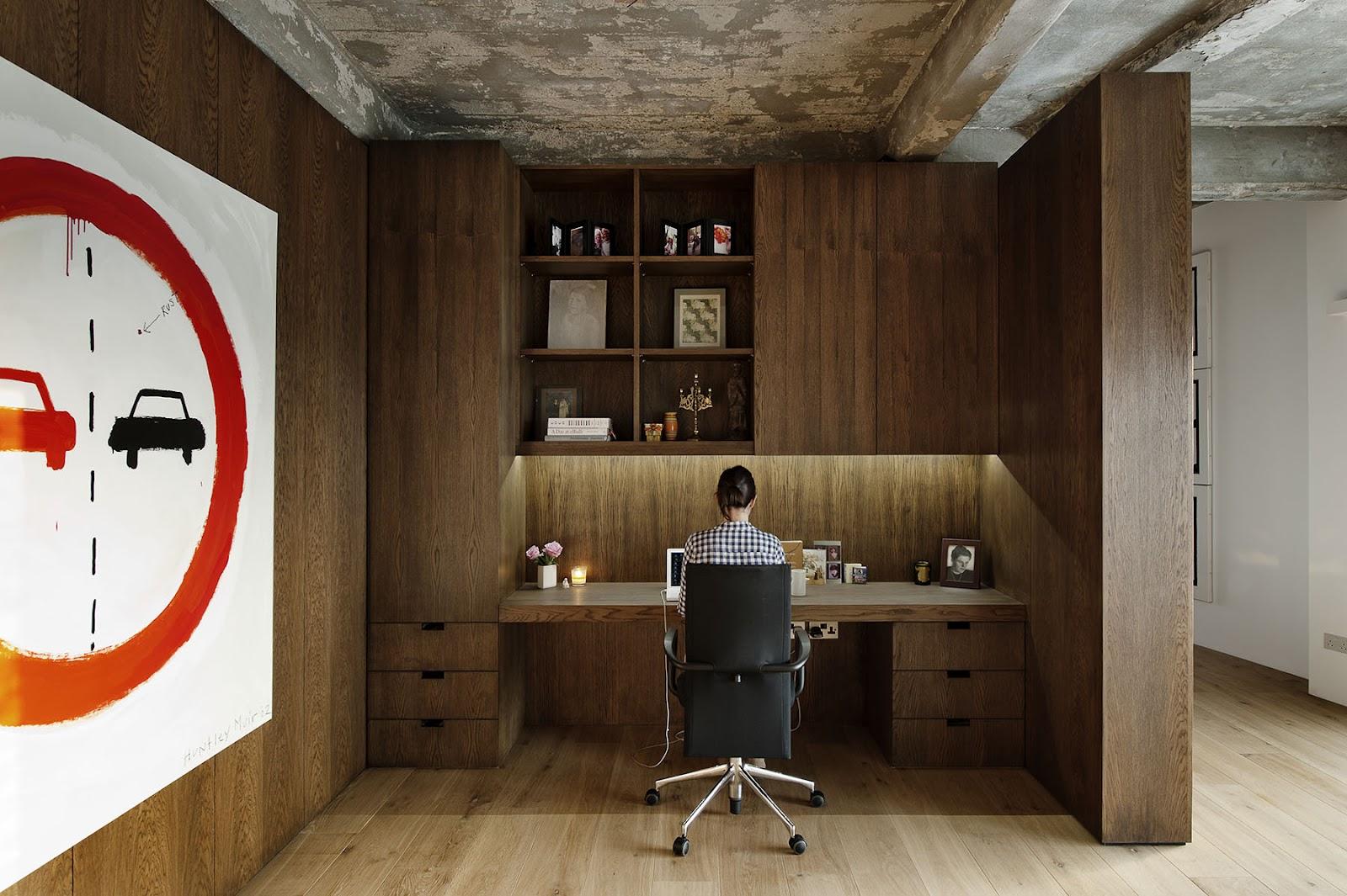 bureau sur mesure en bois. Black Bedroom Furniture Sets. Home Design Ideas