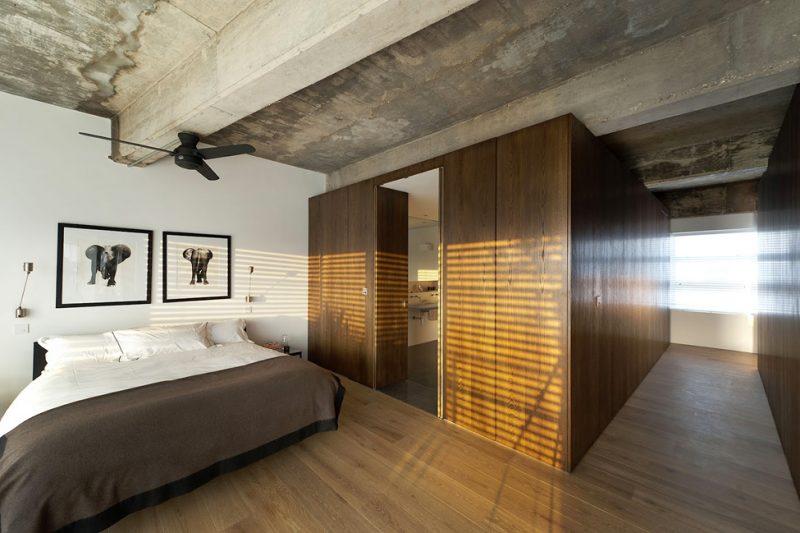 Chambre moderne du loft