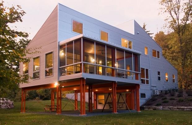 Maison  Ossature Mtallique Par Birdseye Design