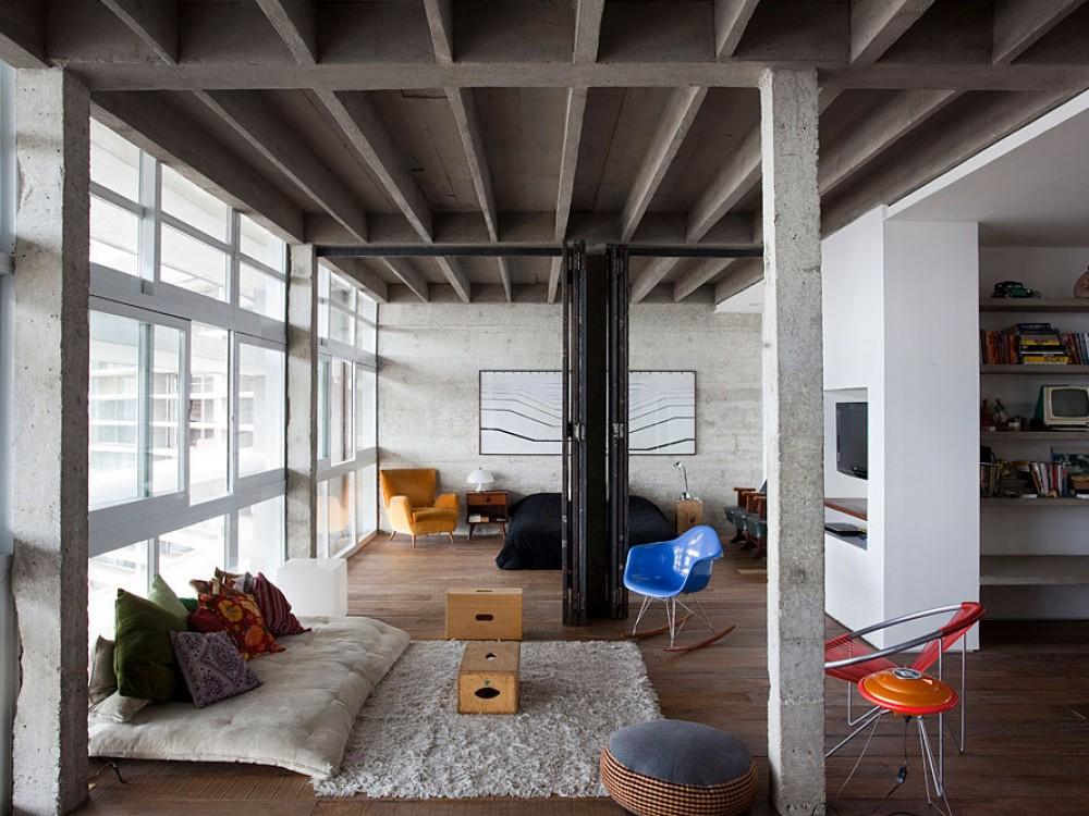 Appartement esprit loft s o paulo - Chambre style loft industriel ...