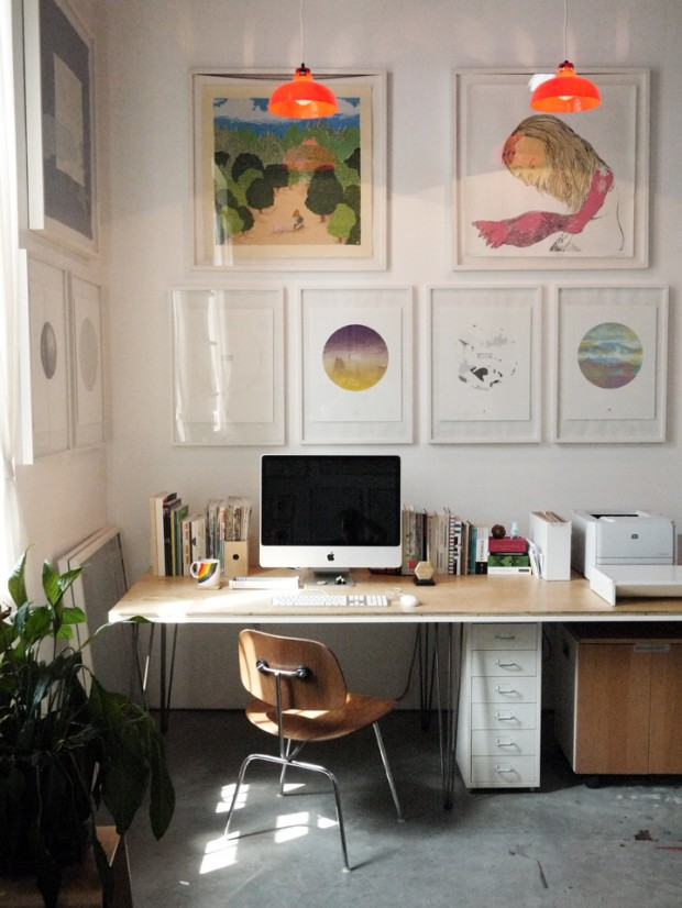 33 id es d co de bureau pour votre loft for Idee decoration bureau maison