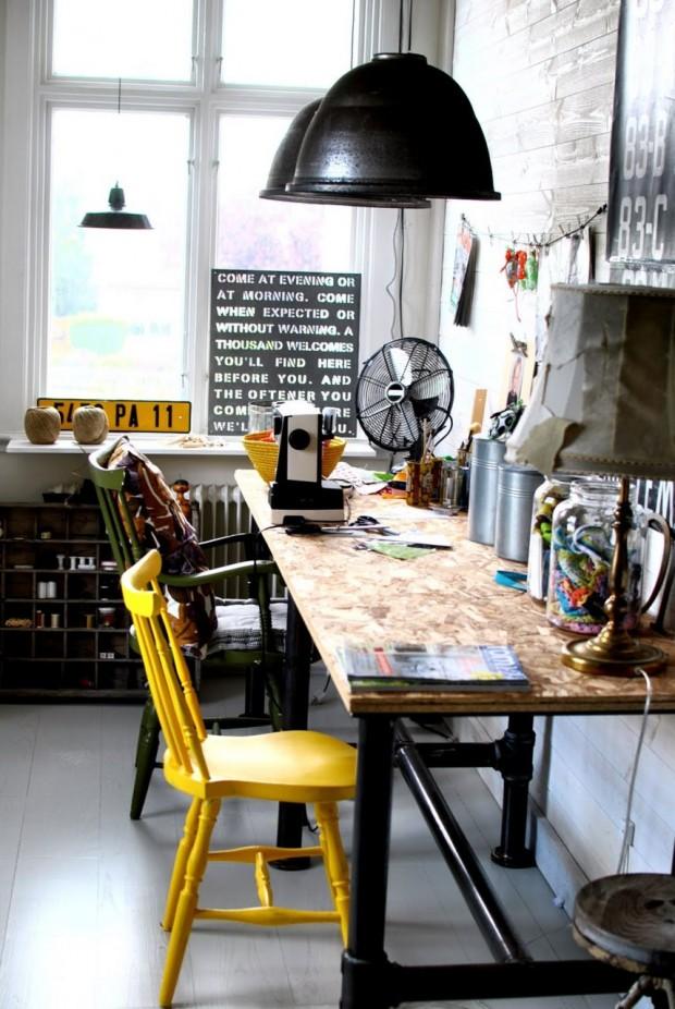 32 id es d co de bureau pour votre loft for Idee deco pour bureau professionnel