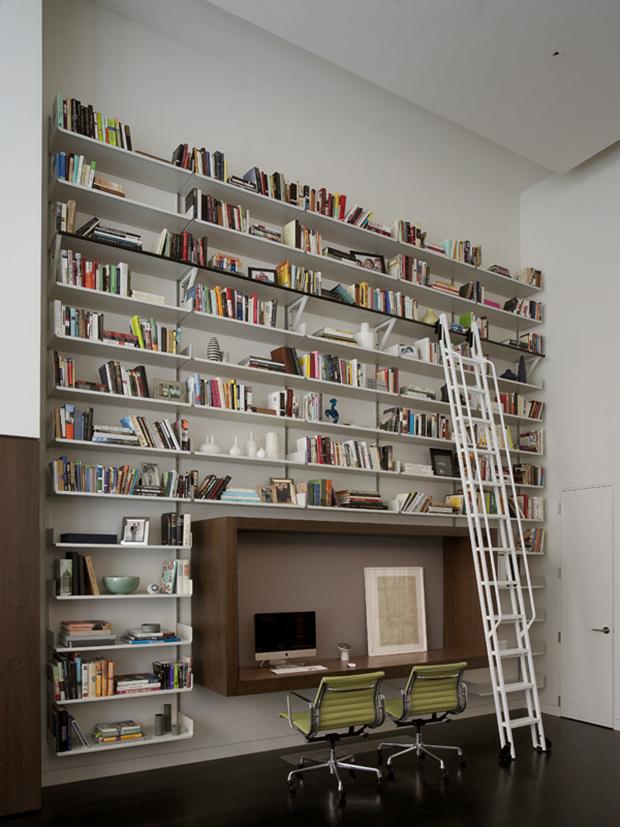 stunning biblioth que avec bureau int gr gallery. Black Bedroom Furniture Sets. Home Design Ideas